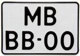 Kentekenplaat Motoraanhanger Wit_49