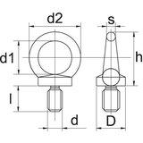Oogbout van M6 tot M14 verzinkt._7