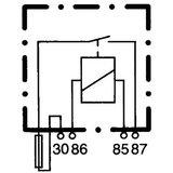 Relai + zekering 4-polig 12v Hella_49
