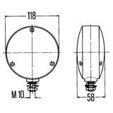 Richtingaanwijzer 118mm Oranje, Hella_49