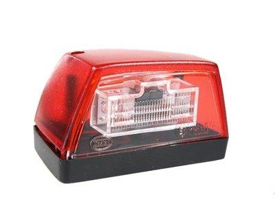Kentekenverlichting LED Rood verlicht, 102x57x55