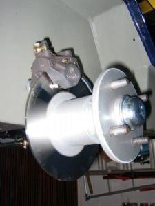 Naaf met remschijf 200mm RVS