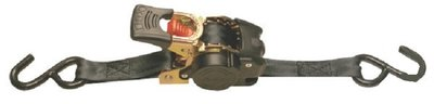 Sjorband automaat, zelf oprollend 25mm, 250 kg, S-haken.