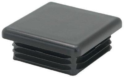 Lamellenstop vierkant vanaf 20x20 mm Zwart