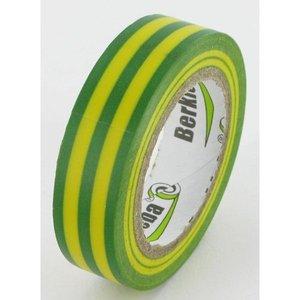 Isolatieband Groen/Geel,15mmx10mtr.