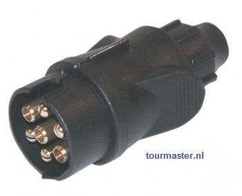 7- Polige stekker kunststof zwart.