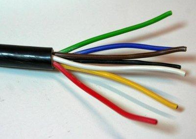 7- aderige Elektrische kabel 7x0,75 mm²
