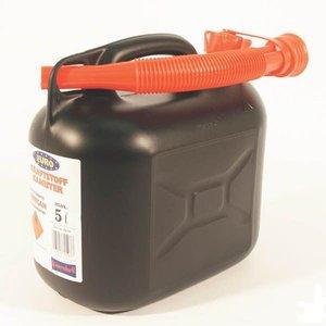 Jerrycan 5Ltr. kunststof zwart