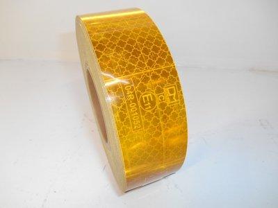 Reflectie tape Geel, 50mm x 50mtr. e-Keur