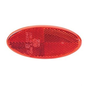 Reflector Ovaal 101,6x45mm Rood