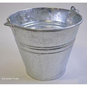 Emmer 11 Liter metaal verzinkt