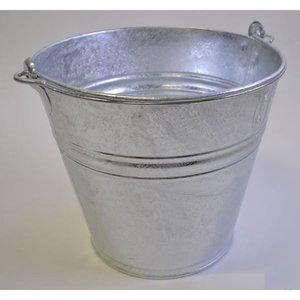 Emmer 14 Liter metaal verzinkt