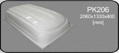 Deksel aanhanger polyester 2060x1330x400mm.