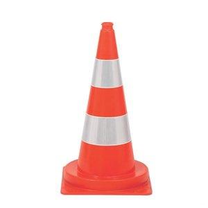 Verkeerskegel 50cm Oranje/Wit zwaar