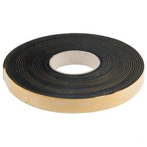 Afdichtband, Sponsrubber 5x25mm - 10mtr. zwart zelfklevend