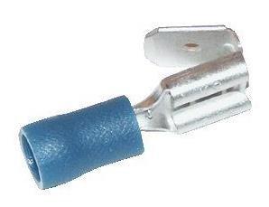 Kabelschoen, vlakschuif Blauw, verdeelst. 1,5-2,5 mm²