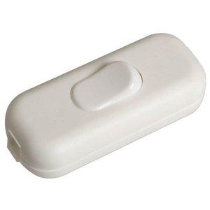 Schakelaar snoermontage, kunststof wit, 220V
