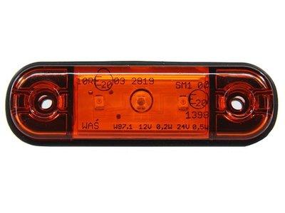 Zij- Positieverlichting Oranje 3-LED 83x24 mm WAS