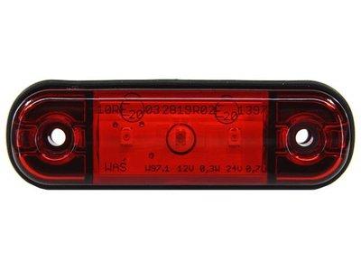 Zij- Achterlicht Rood 3-LED 85x25mm