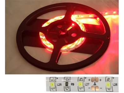 LED strip Rood, 12v, 60 LED,s 5mtr.