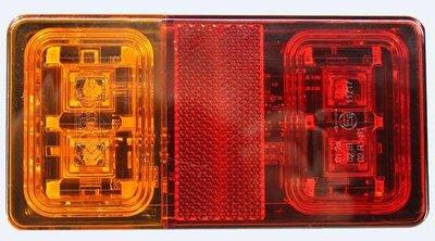 Achterlicht 150x80 16-LED Li+Re