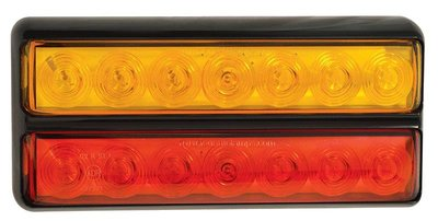 Achterlicht LED 2-delig 200x90mm Verl-Rem-Knip.  Li+Re