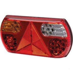 Achterlicht 296x142mm LED + Driehoek Links Hella