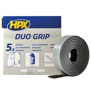 Duo grip Klikband, (Klittenband) 25mmx2m, zwart