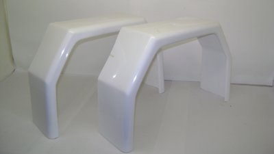 Spatbord Polyester TM350 Wit.