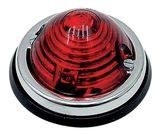Top- of Achterlicht of R.A.W lamp, 70 mm, Rood, Chroomrand