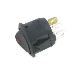 Wip of tuimelschakelaar LED rood rond 20mm