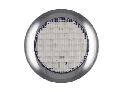 ø 145 mm Achteruitrijlamp rond Chroomrand Helder LED