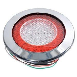 ø 155 mm Achterlicht- Remlicht- RAW-licht rond Chroomrand  LED JOKON