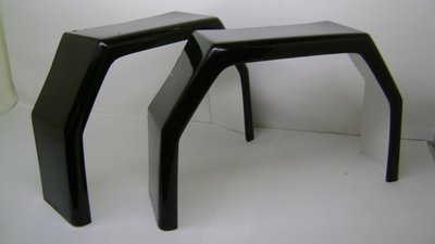 Spatbord Polyester TM350 Zwart.
