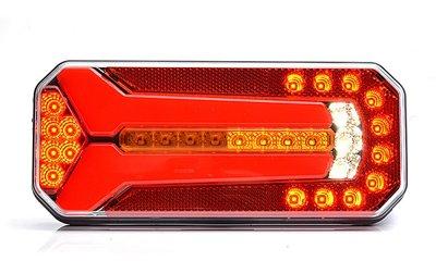 - Achterlicht, Neonefect,  LED Li+Re. 7-functies 236x104x40mm, kabel 2Mtr.