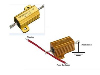 - LED weerstand voor RAW- wijzer, knipperlicht 12V digitaal