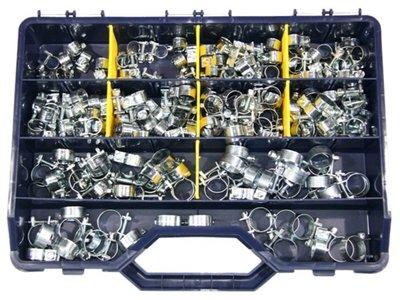 "Slangklem ""Benzineslangklemmen"" schroef model, 220 stuks, assortiment."