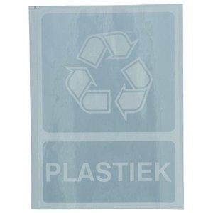 Afvalcontainer, Sticker Recycle PLASTIEK.
