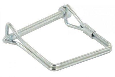 Borgclip Vierkant, 8,0x63 mm Groot model,  Vierkantebuis