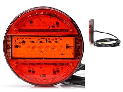 WAS ø 140 mm Achterlicht LED Rond LED Li+Re 3-functies