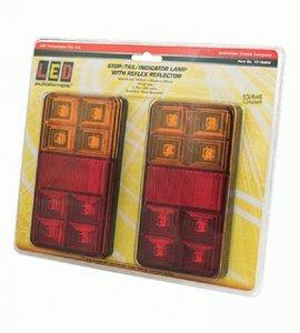 - Achterlicht 150x80 mm LED Li+Re 5-functies, set van 2 stuks, Tralert.