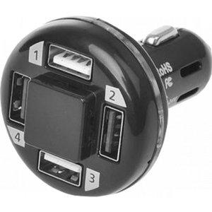 - USB lader 4-delig 12/24v tbv aanstekerplug.